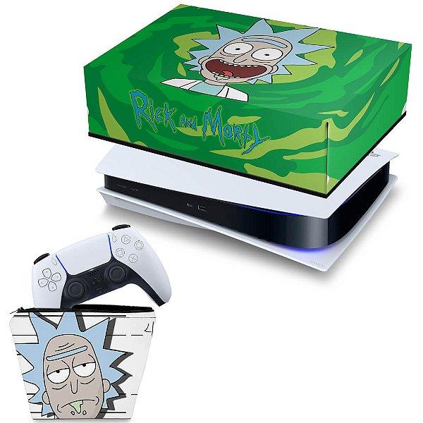 KIT PS5 Capa e Case Controle - Rick And Morty