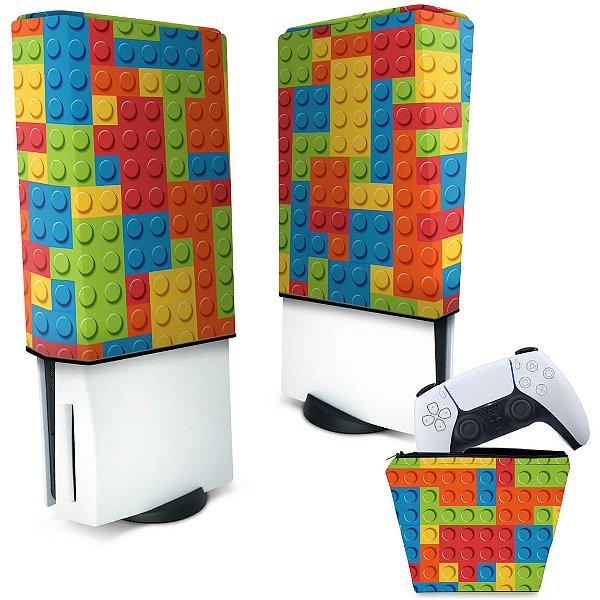 KIT Capa PS5 e Case Controle - Lego Peça