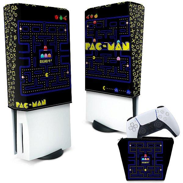 KIT Capa PS5 e Case Controle - Pac Man