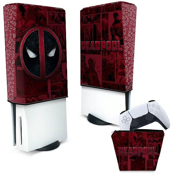 KIT Capa PS5 e Case Controle - Deadpool Comics