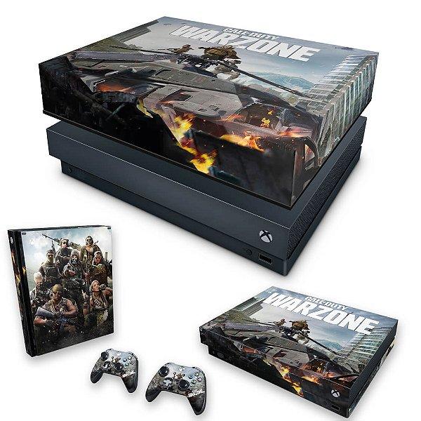 KIT Xbox One X Skin e Capa Anti Poeira - Call of Duty Warzone