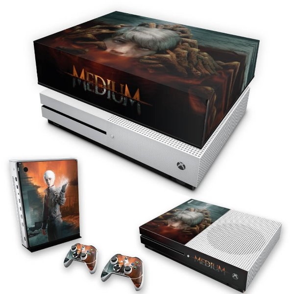 KIT Xbox One S Slim Skin e Capa Anti Poeira - The Medium
