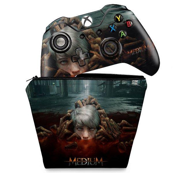 KIT Capa Case e Skin Xbox One Fat Controle - The Medium