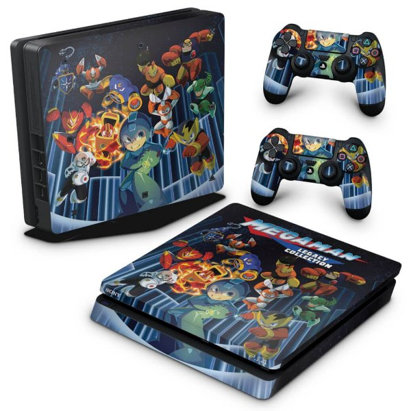 PS4 Slim Skin - Megaman Legacy Collection