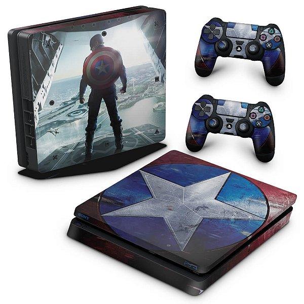 PS4 Slim Skin - Capitão América