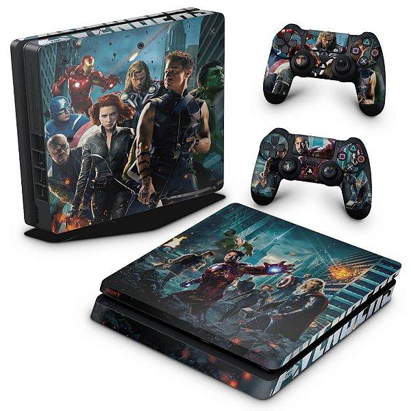 PS4 Slim Skin - The Avengers - Os Vingadores