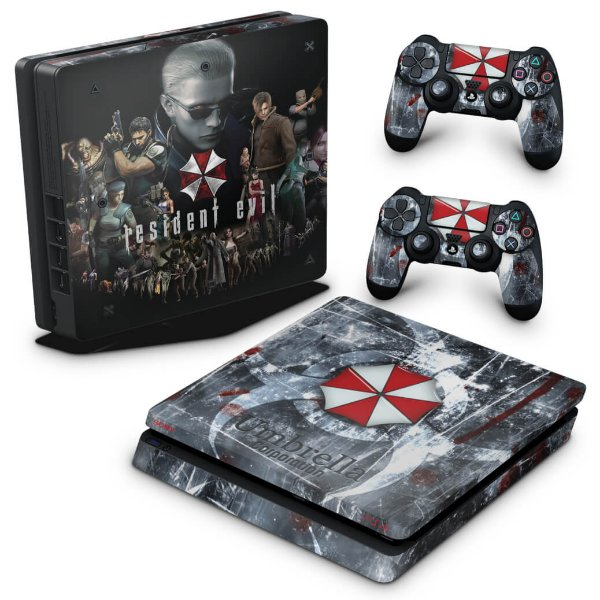 PS4 Slim Skin - Resident Evil Umbrella