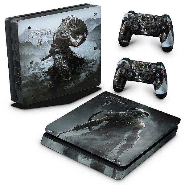 PS4 Slim Skin - Skyrim