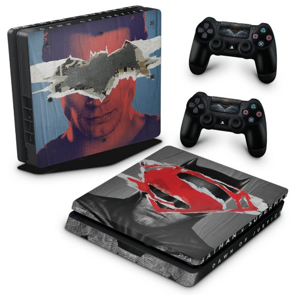 PS4 Slim Skin - Batman Vs Superman