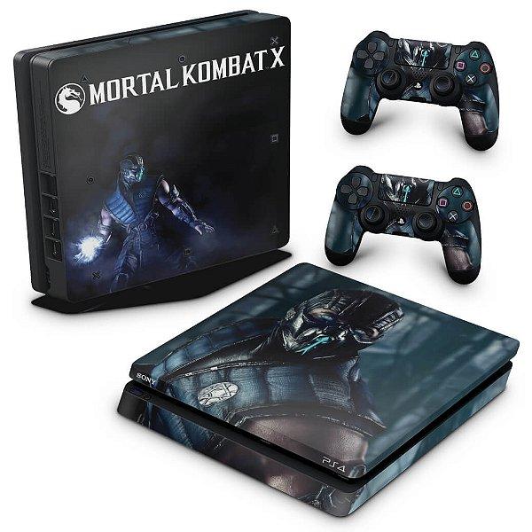 PS4 Slim Skin - Mortal Kombat X - Sub Zero