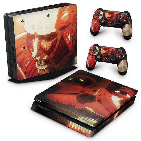 PS4 Slim Skin - Attack On Titan - shingeki no kyojin #B