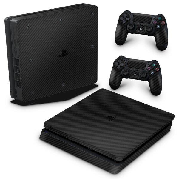 PS4 Slim Skin - Fibra de carbono
