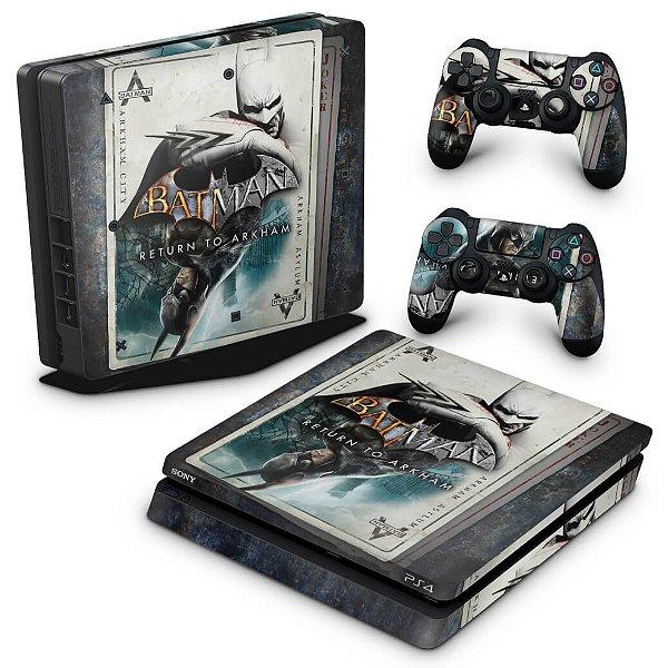 PS4 Slim Skin - Batman Return to Arkham