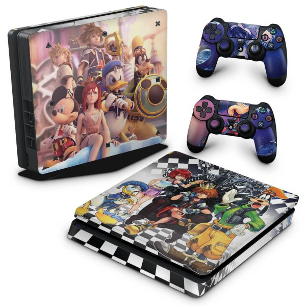 PS4 Slim Skin - Kingdom Hearts