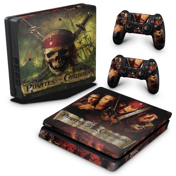 PS4 Slim Skin - Piratas do Caribe