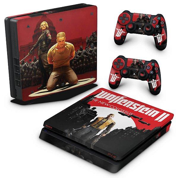 PS4 Slim Skin - Wolfenstein 2 New Order