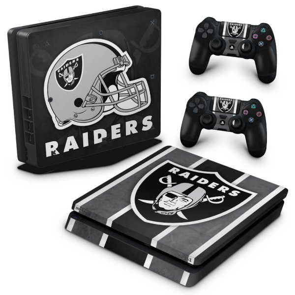 PS4 Slim Skin - Oakland Raiders NFL