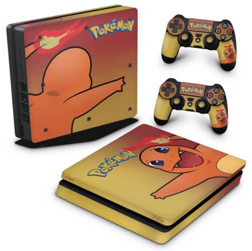 PS4 Slim Skin - Pokemon Charmander