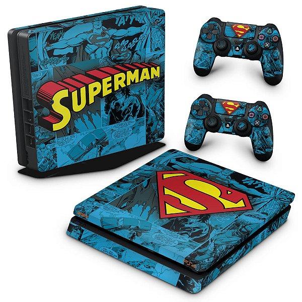 PS4 Slim Skin - Super Homem Superman Comics
