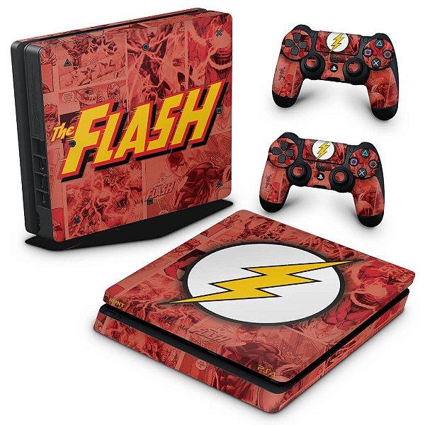 PS4 Slim Skin - The Flash Comics
