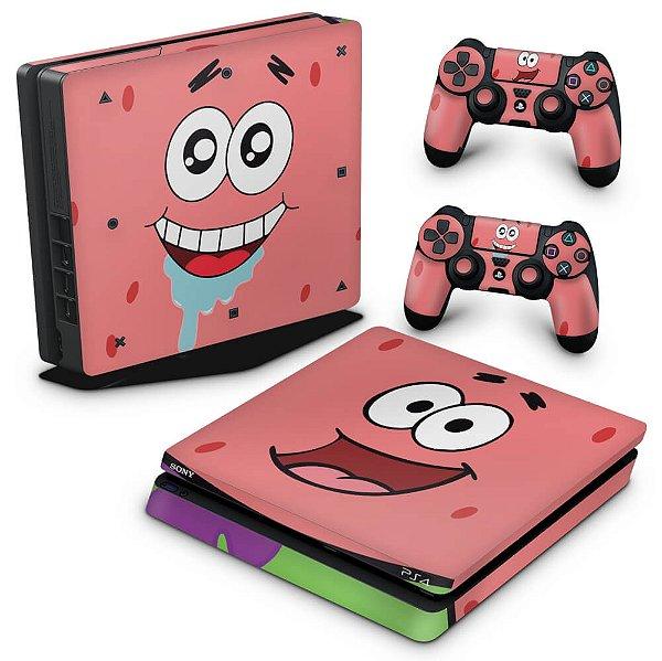 PS4 Slim Skin - Patrick Bob Esponja