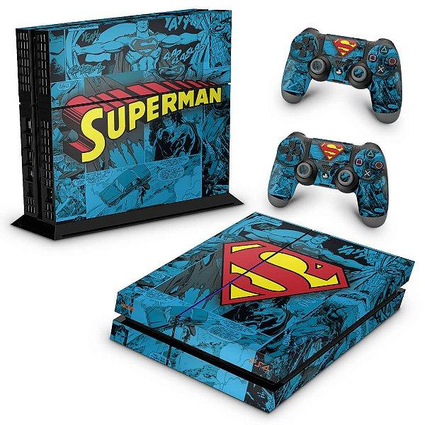 PS4 Fat Skin - Super Homem Superman Comics