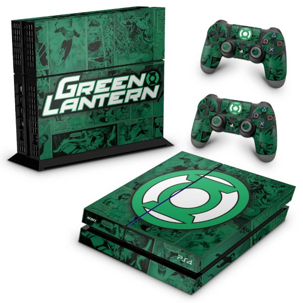 PS4 Fat Skin - Lanterna Verde Comics