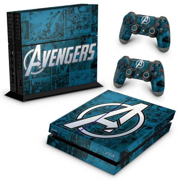 PS4 Fat Skin - Avengers Vingadores Comics