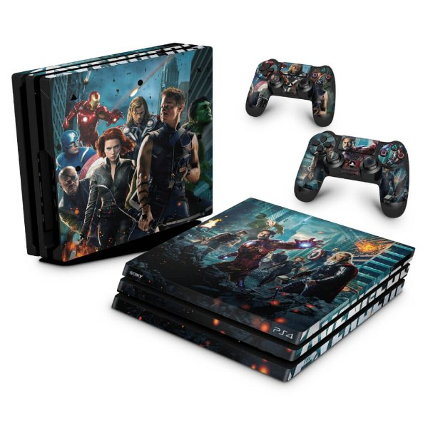 PS4 Pro Skin - The Avengers - Os Vingadores