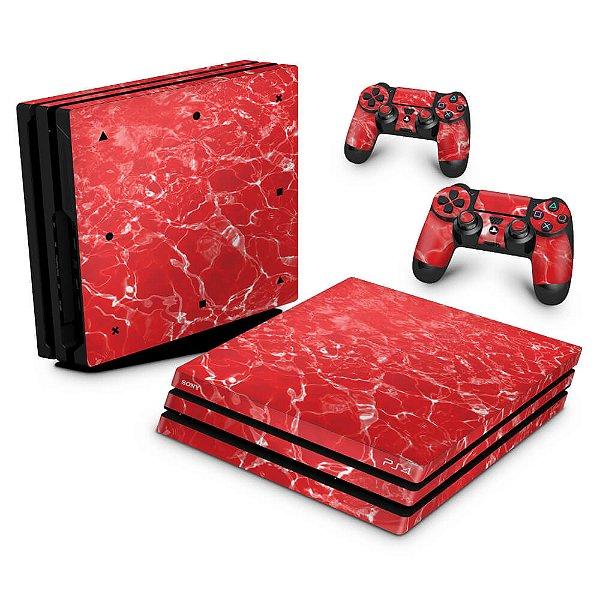 PS4 Pro Skin - Aquático Água Vermelha