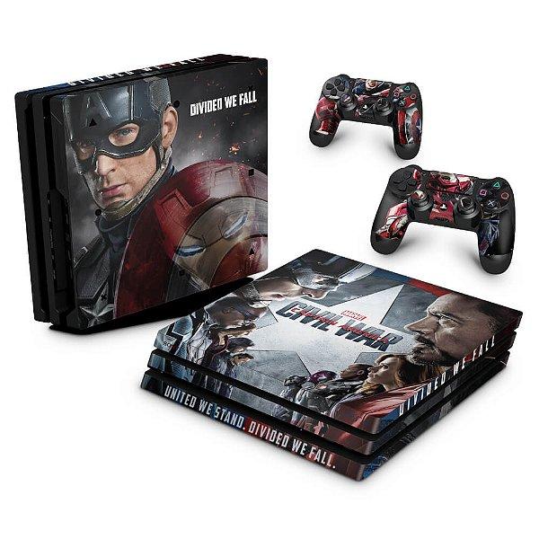 PS4 Pro Skin - Capitão America - Guerra Civil