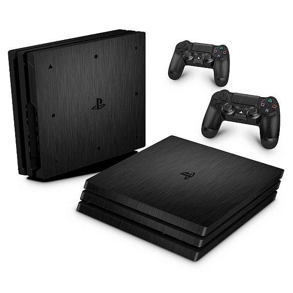 PS4 Pro Skin - Aço Escovado Preto