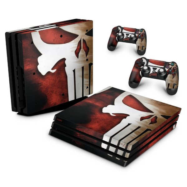 PS4 Pro Skin - The Punisher Justiceiro