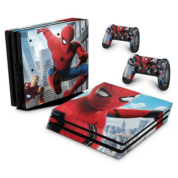 PS4 Pro Skin - Spiderman - Homem Aranha Homecoming