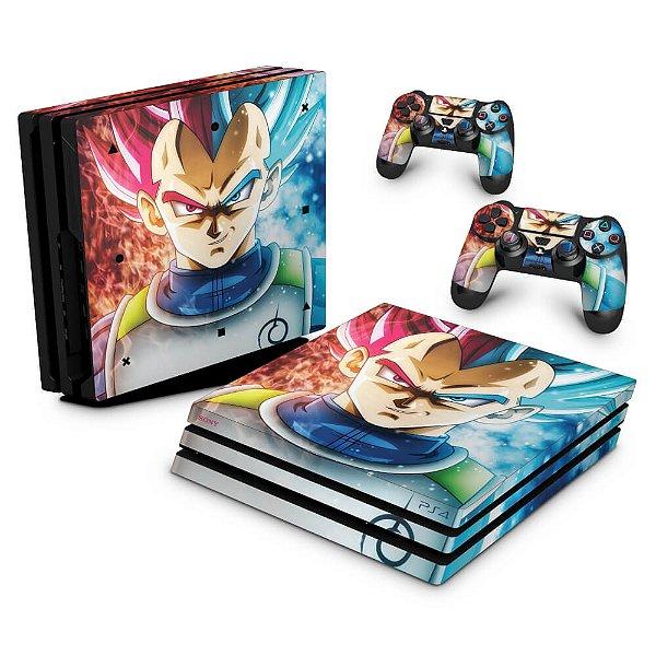 PS4 Pro Skin - Dragon Ball Super Vegeta SSJ GOD
