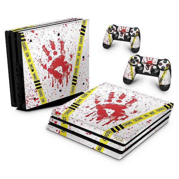 PS4 Pro Skin - Cena de Crime Scene