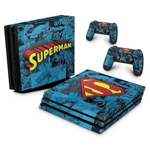 PS4 Pro Skin - Super Homem Superman Comics