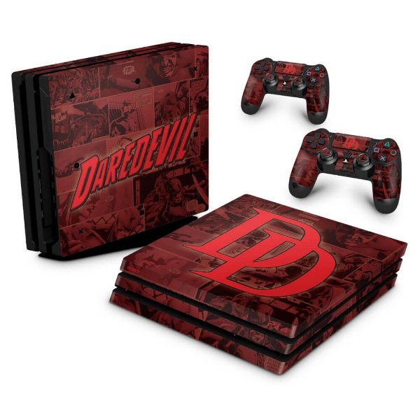 PS4 Pro Skin - Daredevil Demolidor Comics