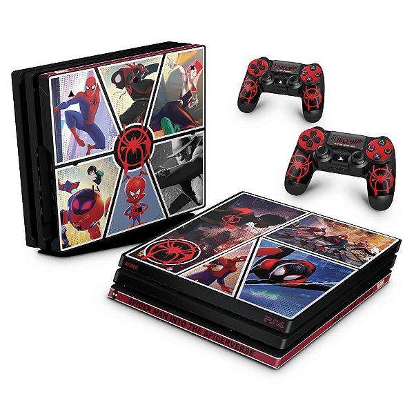PS4 Pro Skin - Homem-Aranha no Aranhaverso