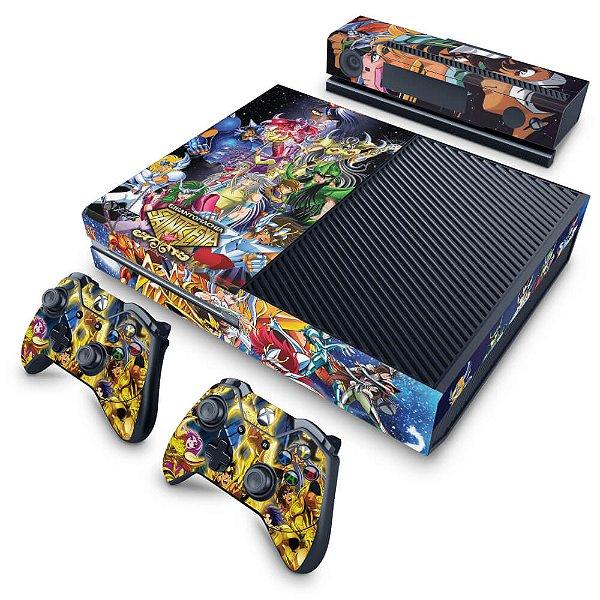 Xbox One Fat Skin - Cavaleiros do Zodiaco