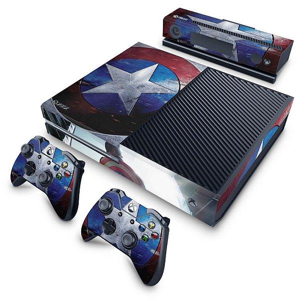 Xbox One Fat Skin - Capitão America