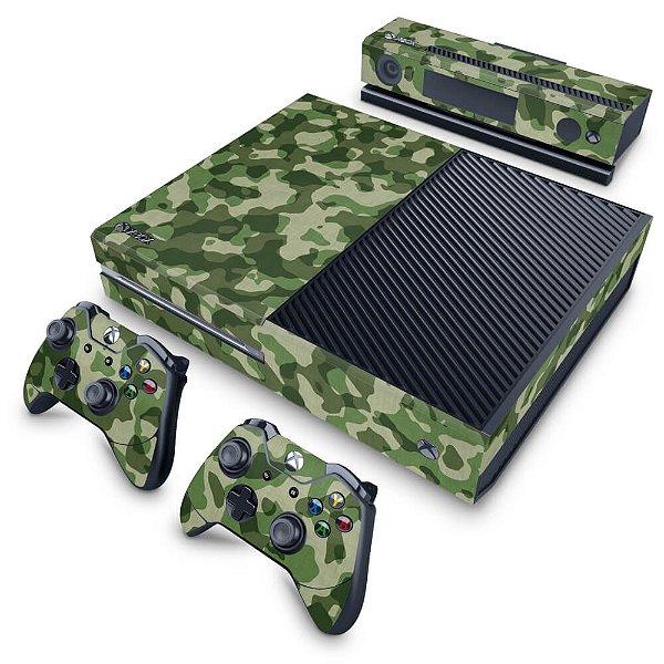 Xbox One Fat Skin - Camuflagem Verde