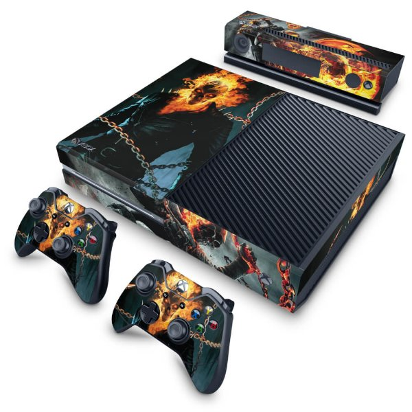 Xbox One Fat Skin - Ghost Rider - Motoqueiro Fantasma #B