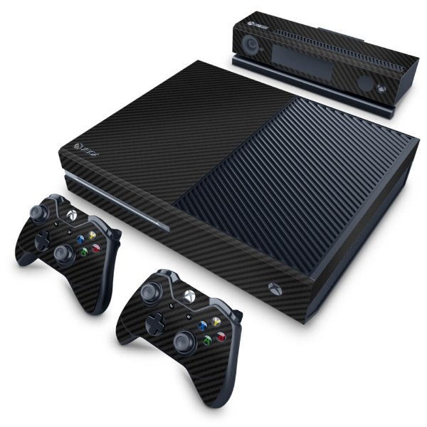 Xbox One Fat Skin - Fibra de Carbono Preto
