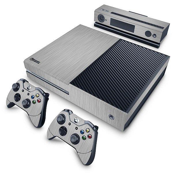 Xbox One Fat Skin - Aço Escovado Prateado