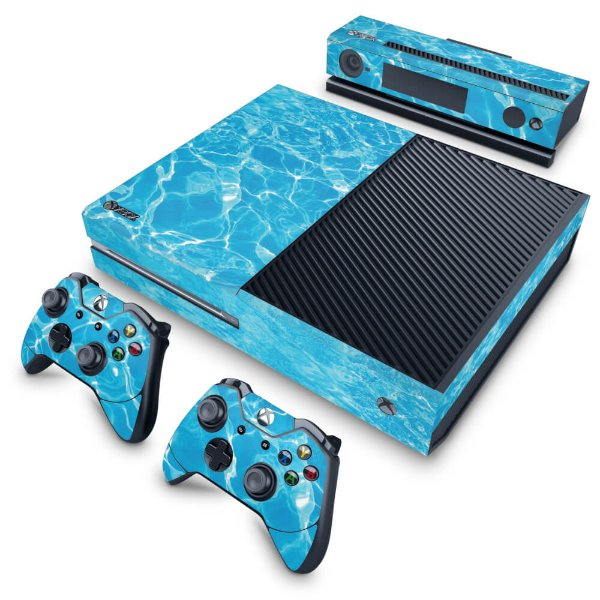 Xbox One Fat Skin - Aquático Água