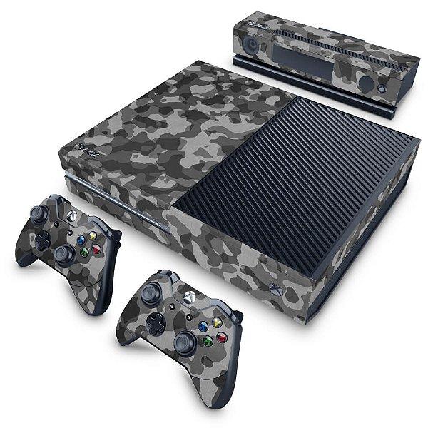 Xbox One Fat Skin - Camuflagem Cinza