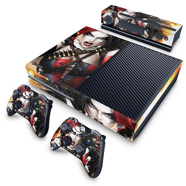 Xbox One Fat Skin - Arlequina Harley Quinn #B