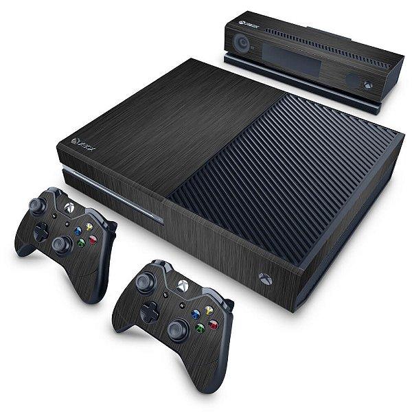 Xbox One Fat Skin - Aço Escovado Preto