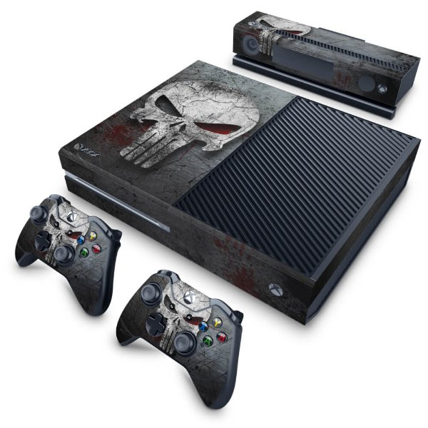 Xbox One Fat Skin - The Punisher Justiceiro #b